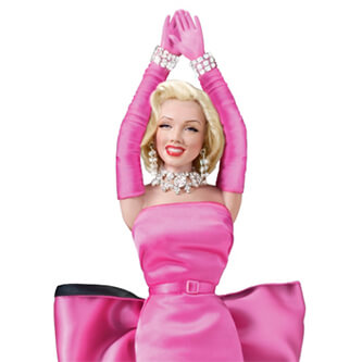 Кукла Мэрилин, кукла Мэрилин Монро, Мэрилин Монро, Мэрилин Монро Джентльмены предпочитают блондинок, Marilyn Monroe doll, Marilyn Monroe, Marilyn doll, Бриллианты - лучшие друзья девушек, Джентльмены предпочитают блондинок, Gentlemen Prefer Blondes