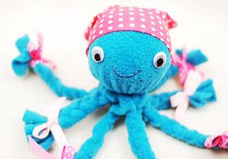 Игрушка осьминог, осьминог из ткани, осьминог из ткани своими руками, игрушка осьминог из ткани